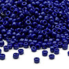 Seed bead, Dyna-Mites™, glass, opaque navy blue, #8 round. Sold per 1/2 kilogram pkg.