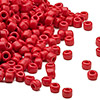 Seed bead, Dyna-Mites™, glass, opaque red, #6 round. Sold per 1/2 kilogram pkg.