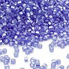 Seed bead, Dyna-Mites™, glass, silver-lined light blue matte, #11 round with square hole. Sold per 40-gram pkg.