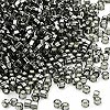 Seed bead, Dyna-Mites™, glass, silver-lined transparent gunmetal, #11 round with square hole. Sold per 40-gram pkg.
