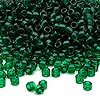 Seed bead, Dyna-Mites™, glass, transparent emerald green, #6 round. Sold per 1/2 kilogram pkg.