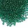 Seed bead, Dyna-Mites™, glass, transparent jade green, #8 round. Sold per 1/2 kilogram pkg.