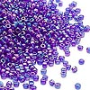 Seed bead, Dyna-Mites™, glass, transparent rainbow iris blue, #11 round. Sold per 1/2 kilogram pkg.