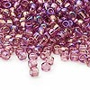 Seed bead, Dyna-Mites™, glass, transparent rainbow lilac, #6 round. Sold per 1/2 kilogram pkg.