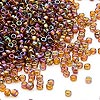 Seed bead, Dyna-Mites™, glass, transparent rainbow root beer, #11 round. Sold per 40-gram pkg.