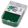 Seed bead, Ming Tree™, glass, transparent emerald green, #11 round. Sold per pkg of 1/4 pound.