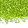 Seed bead, Ming Tree™, glass, transparent lime green, #11 round. Sold per pkg of 1 pound.