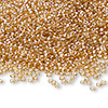 Seed bead, Ming Tree™, glass, transparent luster tan, #11 round. Sold per pkg of 1 pound.