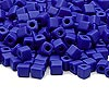 Seed bead, Miyuki, glass, opaque frosted cobalt, (SB414F), 3.5-3.7mm square. Sold per 250-gram pkg.