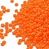 Seed bead, Miyuki, glass, opaque light orange, (#405), #15 rocaille. Sold per 35-gram pkg.