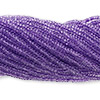 Seed bead, Preciosa Czech glass, transparent light blue/purple, #11 round. Sold per 1/2 kilogram pkg.
