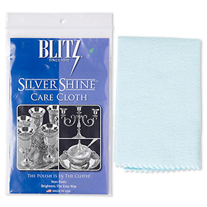 Shine cloth, Blitz® Sterling SilverShine™ Cloth, 15x12-inch rectangle. Sold individually.