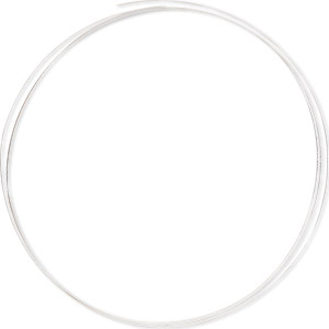 Solder wire, 75% silver, hard, 0.5mm (24 gauge). Sold per pkg of 5 feet.