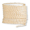 Wire, 12Kt gold-filled, half-hard, twisted square, 16 gauge. Sold per pkg of 5 feet.