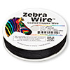 Wire, Zebra Wire™, color-coated copper, black, round, 26 gauge. Sold per 1/4 pound spool, approximately 115 yards.