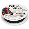 Wire, Zebra Wire™, color-coated copper, black, round, 26 gauge. Sold per 30-yard spool.