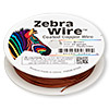 Wire, Zebra Wire™, color-coated copper, brown, round, 22 gauge. Sold per 15-yard spool.