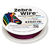Wire, Zebra Wire™, color-coated copper, magenta, round, 26 gauge. Sold per 30-yard spool.