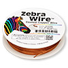 Wire, Zebra Wire™, color-coated copper, orange, round, 20 gauge. Sold per 15-yard spool.