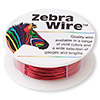Wire, Zebra Wire™, color-coated copper, red, round, 22 gauge. Sold per 15-yard spool.