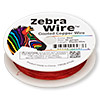 Wire, Zebra Wire™, color-coated copper, red, round, 30 gauge. Sold per 50-yard spool.
