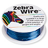 Wire, Zebra Wire™, color-coated copper, sapphire blue, round, 22 gauge. Sold per 1/4 pound spool, approximately 45 yards.