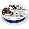 Wire, Zebra Wire™, color-coated copper, sapphire blue, round, 24 gauge. Sold per 20-yard spool.