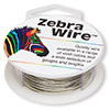 Wire, Zebra Wire™, copper, silver color, round, 20 gauge. Sold per 15-yard spool.