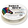 Wire, Zebra Wire™, copper, silver color, round, 28 gauge. Sold per 40-yard spool.