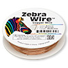 Wire, Zebra Wire™, natural copper, round, 26 gauge. Sold per 30-yard spool.