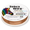 Wire, Zebra Wire™, natural copper, round, 28 gauge. Sold per 1/4 pound spool, approximately 164 yards.