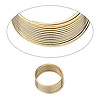 Wire, gold-finished stainless steel, 0.4-0.5mm thick, 1/2 inch inside diameter. Sold per pkg of 12 loops.