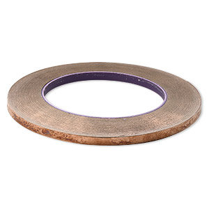 adhesive copper foil, venture tape masterfoil™ plus, 5.56mm wide and 1mm thick with adhesive backing. sold per 36-yard roll.
