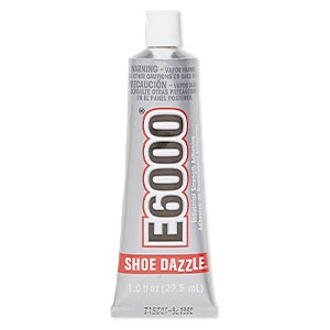 adhesive, e6000 shoe dazzle™. sold per 1-fluid ounce tube.