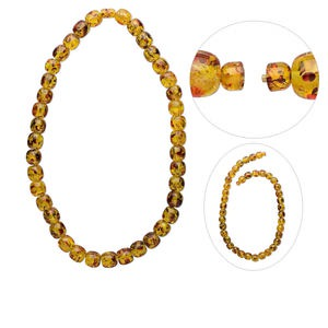 amber-like resin necklace, sold individually.