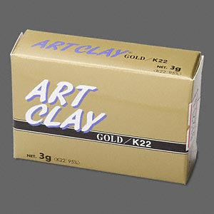 art clay, 22kt gold. sold per 3-gram pkg.