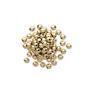 Bead 12kt Gold Filled 2 5mm Round With 0 6mm Hole Sold Per Pkg Of 100 Other Package Size S Here