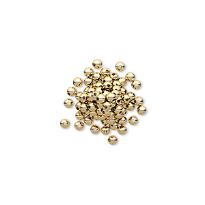 bead, 14kt gold-filled, 2mm smooth round. sold per pkg of 100.