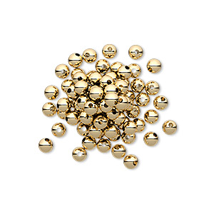 bead, 14kt gold-filled, 3mm smooth round. sold per pkg of 20.