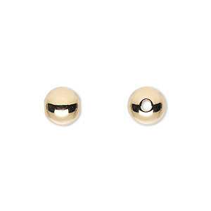 bead, 14kt gold-filled, 8mm seamless smooth round with 2mm hole. sold per pkg of 20.