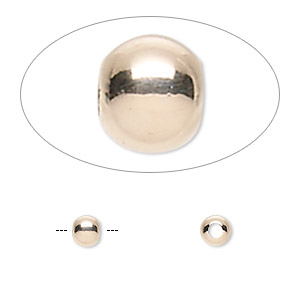 bead, 14kt rose gold-filled, 4mm seamless round. sold per pkg of 100.