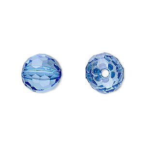 bead, acrylic, blue, 12mm faceted round. sold per 100-gram pkg, approximately 100 beads.