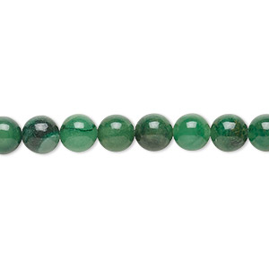 bead, african aventurine (natural), 6mm round, b grade, mohs hardness 7. sold per 16-inch strand.