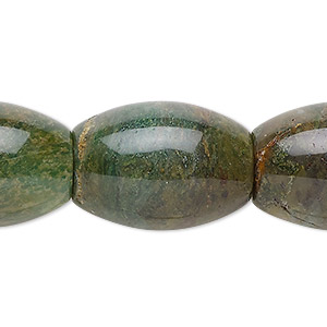 bead, african jade (natural), 25x18mm barrel, b grade, mohs hardness 7. sold per 16-inch strand.