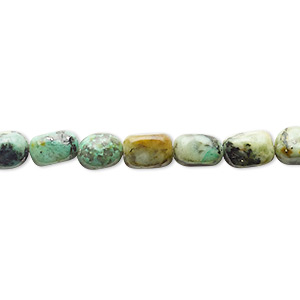 bead, african turquoise (dyed), small pebble, mohs hardness 6-1/2 to 7. sold per 16-inch strand.