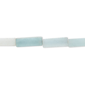 bead, amazonite (natural), 13x4mm square tube, b grade, mohs hardness 6 to 6-1/2. sold per 16-inch strand.