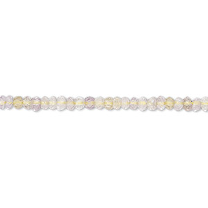 bead, amethyst / citrine / ametrine, (natural / heated), light, 2x1mm-3x2mm hand-cut faceted rondelle, b- grade, mohs hardness 7. sold per 13-inch strand.