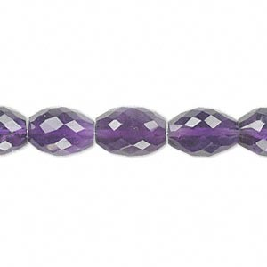 bead, amethyst (natural), dark, 11x8mm hand-cut faceted oval, b grade, mohs hardness 7. sold per pkg of 10.