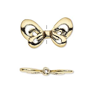 bead, antique gold-plated pewter (tin-based alloy), 25x14mm open wings, 1.5mm hole. sold individually.