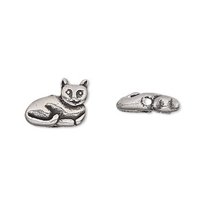 bead, antiqued pewter (tin-based alloy), 11mm cat. sold per pkg of 2.